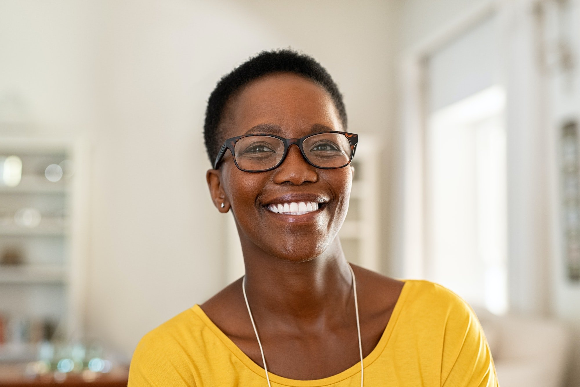 Young woman wearing spectacles